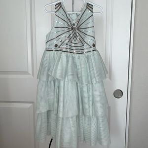 H&M Tiered Tulle Dress w Silver Sequin